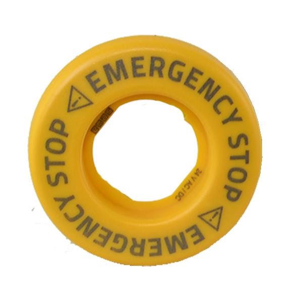 Pierścień podświetlający do przycisków awaryjnych, światło błyskowe, żółty