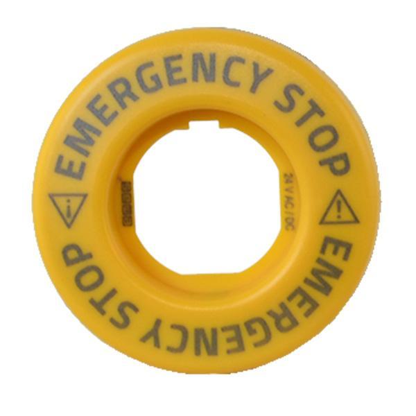 Pierścień podświetlający do przycisków awaryjnych, światło ciągłe, żółty