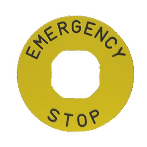 Tabliczka EMERGENCY, plastikowa, 60mm