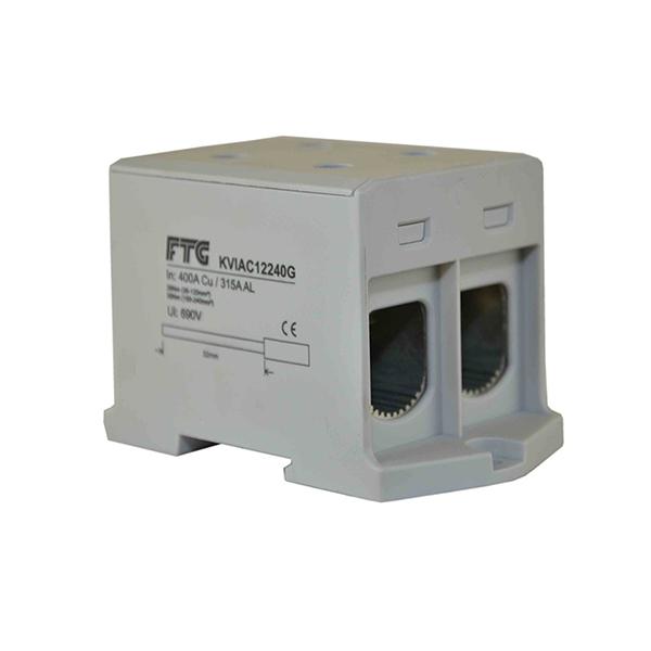 Blok rozdzielczy 2 x 400 A 2 x 35 – 240 mm2 szary